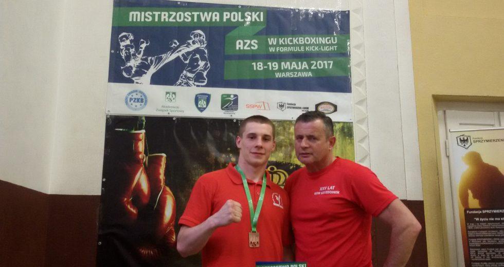 Brąz Mienciuka w Akademickich Mistrzostwach Polski w Kick-Boxingu