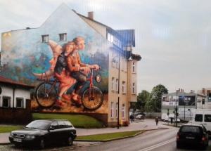 Nowy mural w Szczecinku w ramach Art Pikniku