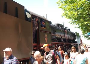 Pociąg parowy Pirat znów odwiedził Kołobrzeg