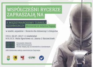 Współcześni rycerze zapraszają na X Międzynarodowy Turniej Szermierczy w Szczecinku