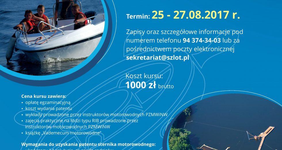 Kurs na patent sternika motorowodnego – Szczecinek