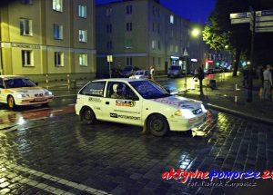 Rajdowcy ścigali się w centrum Kołobrzegu