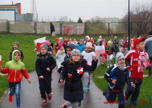Bieg dzieci z okazji Święta Niepodległości