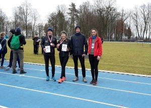 Natalia Kowalik i Mateusz Wardęga z medalami Mistrzostw Województwa Zachodniopomorskiego w Biegach Przełajowych