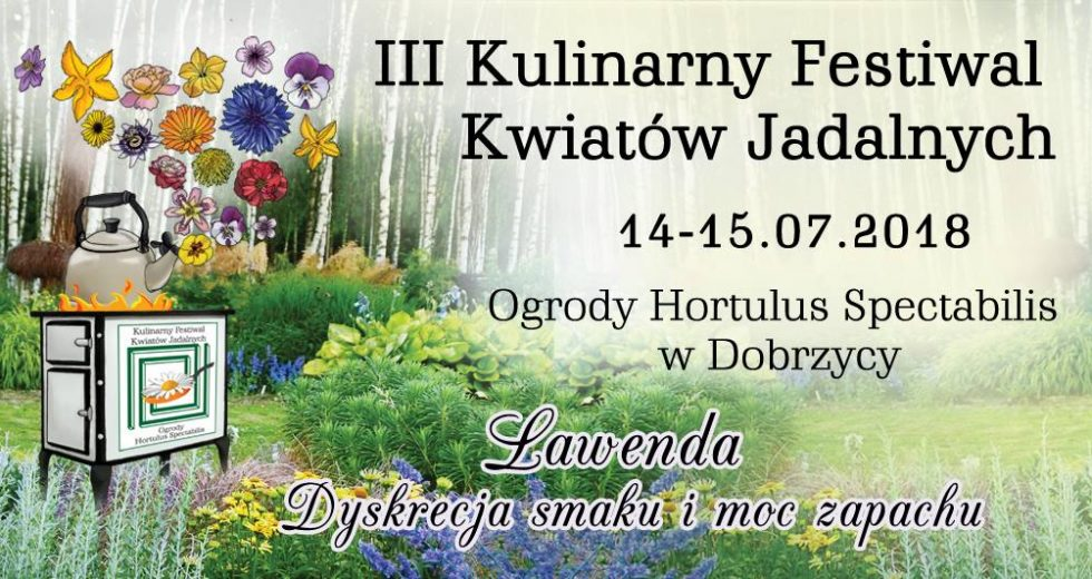III Kulinarny Festiwal Kwiatów Jadalnych odbędzie się 14-15.07 w Dobrzycy