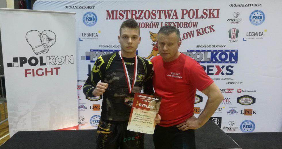 Dawid Czapiewski brązowym medalistą Mistrzostw Polski Juniorów w kick-boxingu