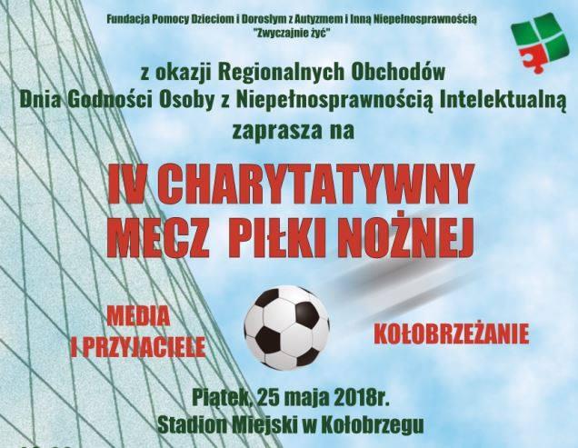 """IV Charytatywny Mecz Piłki Nożnej """"Media i przyjaciele vs Kołobrzeżanie"""" odbędzie się już 25 maja"""