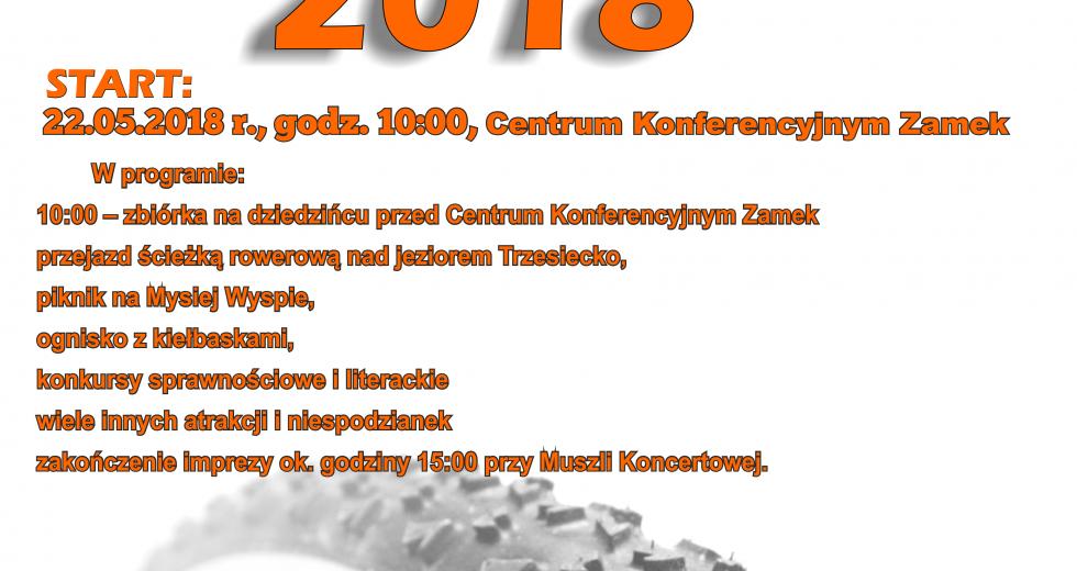 """Zaproszenie na rajd rowerowy dookoła jeziora Trzesiecko – """"Odjazdowy bibliotekarz"""""""