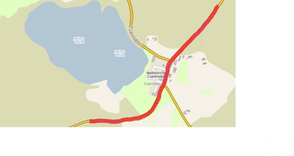 W sobotę wystąpią utrudnienia w ruchu kołowym drogą powiatową nr 1302Z (ul. Czarnobór).