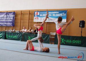 Zespoły akrobatyczne dziewcząt startowały w Wojewódzkiej Olimpiadzie Młodzieży