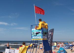 Warunki pogodowe uniemożliwiły kąpiel na mieleńskich plażach