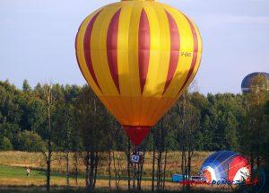 Balony lądujące tuż przy DK 11