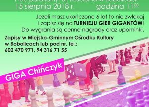 Zaproszenie do Bobolic na Turniej Gier Gigantów