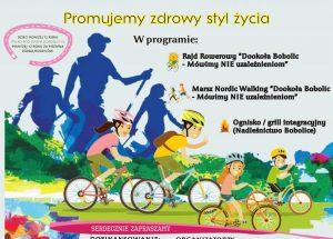 Zaproszenie na Rajd Rowerowy i marsz Nordic Walking dookoła Bobolic
