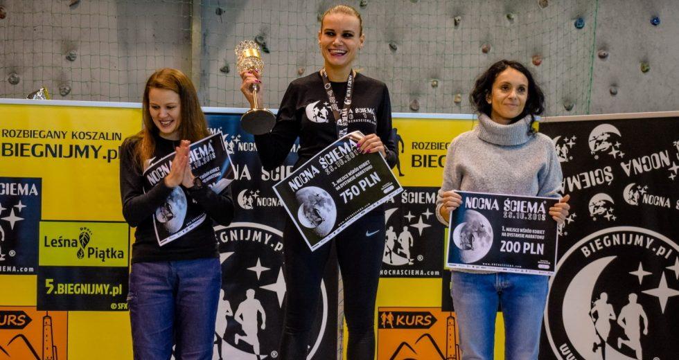 Zawodnicy ze Szczecinka wystartowali w koszalińskiej Nocnej Ściemie. Magdalena Kończak zwyciężyła w kategorii kobiet na dystansie maratońskim