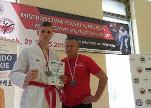 Filip Chmera (KKT Bałtyk Koszalin) młodzieżowym wicemistrzem Polski w taekwondo olimpijskim