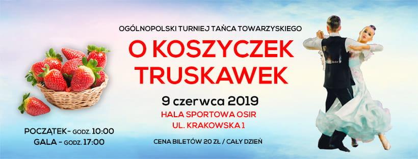 """Już 9 czerwca w Szczecinku odbędzie się Ogólnopolski Turniej Tańca Towarzyskiego ,,O Koszyczek Truskawek"""""""