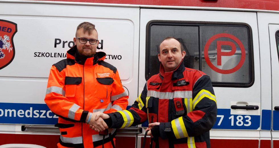 Strażacy wspierają ratowników